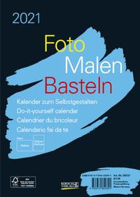 Foto-Malen-Basteln Bastelkalender A5 schwarz 2021