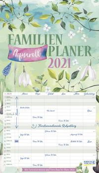 Familienplaner Aquarell 2021