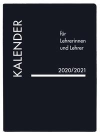 Kalender für Lehrerinnen und Lehrer PVC schwarz 2020/2021