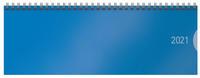Tischquerkalender Classic Colourlux blau 2021
