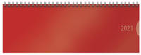 Tischquerkalender Classic Colourlux rot 2021
