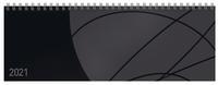 Tischquerkalender Professional Colourlux schwarz 2021
