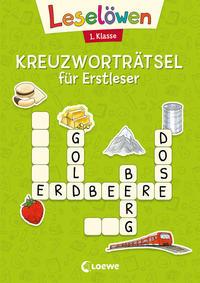 Leselöwen Kreuzworträtsel für Erstleser - 1. Klasse (Hellgrün)