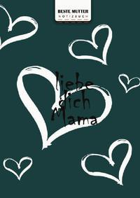 Glücklicher Muttertag, beste Mutter Schreiben Sie in Notizbuch, 180 Seiten, breite gepunktete gepunktete Linien, Ringbindung (Buch 5)