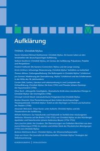 Christlob Mylius. Ein kurzes Leben an den Schaltstellen der deutschen Aufklärung
