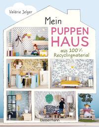 Mein Puppenhaus aus 100% Recyclingmaterial. Inklusive Möbel, Figuren und Zubehör