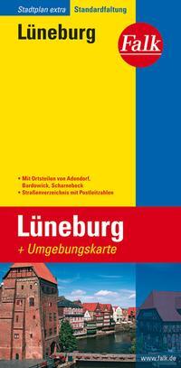 Falk Stadtplan Extra Standardfaltung Lüneburg mit Ortsteilen von Adendorf
