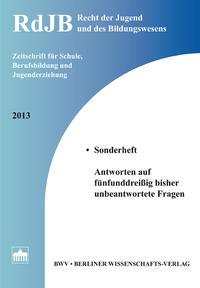 Recht der Jugend und des Bildungswesens Sonderheft 2013