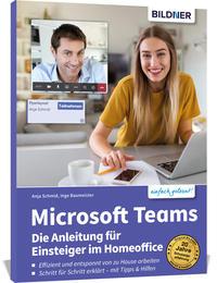 Cover: Anja Schmid & Inge Baumeister Microsoft Teams - die Anleitung für Einsteiger im Homeoffice