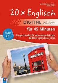 20 x Englisch digital unterstützt für 45 Minuten - Klasse 3/4