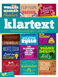 Klartext - Wochenplaner Kalender 2021