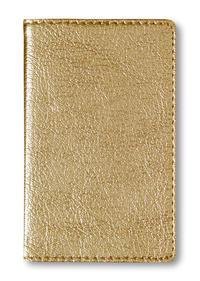 Adressbuch Mini Glamour Gold - 112 Seiten - (6,6 x 10,6)
