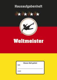 Hausaufgabenheft A5 Weltmeister - immerwährend - 1 Woche 2 Seiten