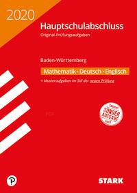 STARK Original-Prüfungen Hauptschulabschluss 2020 - Mathematik, Deutsch, Englisch 9. Klasse - Baden-Württemberg