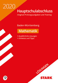 STARK Lösungen zu Original-Prüfungen und Training Hauptschulabschluss 2020 - Mathematik 9. Klasse - Baden-Württemberg