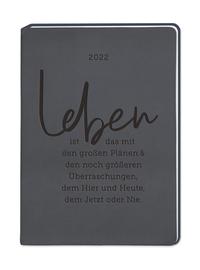 Terminplaner Lederlook A6 'Schwarz' 2022