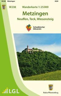 W238 Wanderkarte 1:25 000 Metzingen