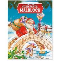Weihnachts-Malblock mit Glitzersteinen