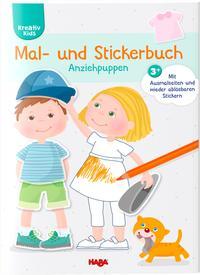Mal- und Stickerbuch Anziehpuppen - Cover