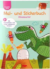 Mal- und Stickerbuch Dinosaurier