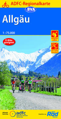 ADFC-Regionalkarte Allgäu 1:75.000, reiß- und wetterfest, GPS-Tracks Download