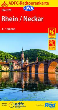 ADFC-Radtourenkarte 20 Rhein/Neckar 1:150.000, reiß- und wetterfest, GPS-Tracks Download
