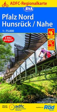 ADFC-Regionalkarte Pfalz Nord/Hunsrück/Nahe, 1:75.000, reiß- und wetterfest, GPS-Tracks Download