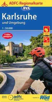 ADFC-Regionalkarte Karlsruhe und Umgebung, 1:50.000, reiß- und wetterfest, GPS-Tracks Download