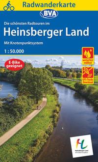 Radwanderkarte BVA Radwandern im Heinsberger Land 1:50.000, reiß- und wetterfest und mit GPS-Track-Download der ausgeschilderten Routen