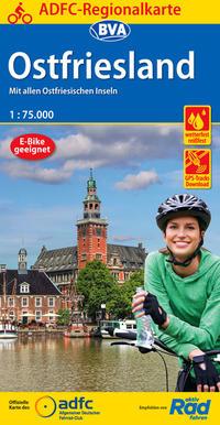 ADFC-Regionalkarte Ostfriesland, 1:75.000, reiß- und wetterfest, GPS-Tracks Download