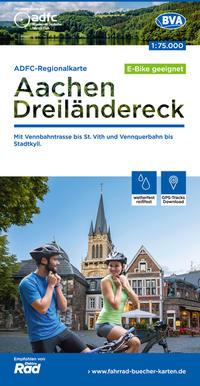 ADFC-Regionalkarte Aachen/Dreiländereck, 1:75.000, reiß- und wetterfest, GPS-Tracks Download