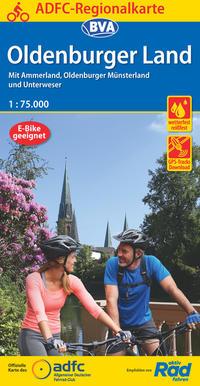 ADFC-Regionalkarte Oldenburger Land mit Tagestouren-Vorschlägen, 1:75.000, reiß- und wetterfest, GPS-Tracks Download