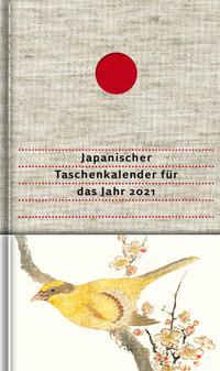 Japanischer Taschenkalender für das Jahr 2021