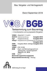 VOB/BGB Textsammlung zum Bauvertrag - innerdeutsche und europaweite Vergaben