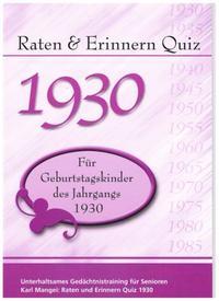Raten & Erinnern Quiz 1930