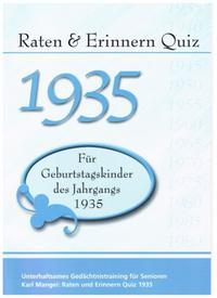 Raten & Erinnern Quiz 1935