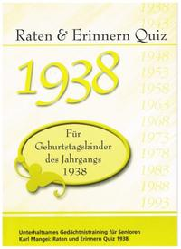 Raten und Erinnern Quiz 1938