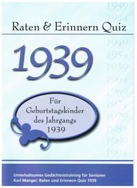 Raten & Erinnern Quiz 1939