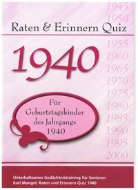 Raten & Erinnern Quiz 1940