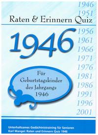 Raten & Erinnern Quiz 1946