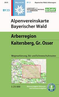 Alpenvereinskarte Bayerischer Wald, Arberregion, Kaitersberg, Osser