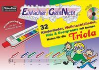 32 Kinderlieder, Weihnachtslieder, Hits & Evergreens mit bunten Noten für die Triola