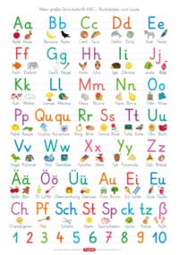 Fragenbär-Lernposter: Mein großes Grundschrift-ABC - Buchstaben und Laute (GS)