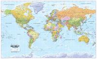 Politische Weltkarte 1:20 Mio deutsch, beidseitig laminiert