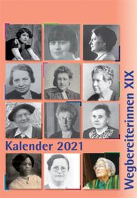Kombi aus 'Kalender 2021 Wegbereiterinnen XIX' (ISBN 9783945959497) und 'Postkartenset Wegbereiterinnen XIX' (ISBN 9783945959510)