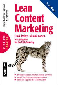 Cover: Sascha Tobias von Hirschfeld & Tanja Josche Lean content marketing - groß denken, schlank starten : Praxisleitfaden für das B2B Marketing