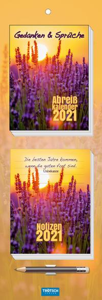 Abreisskalender mit Notizblock 2021