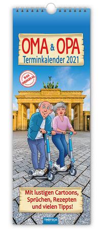 Maxi-Streifenkalender 'Oma und Opa' 2021