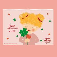 Miss Happy Girl Kalender 2021 (A4 quer)