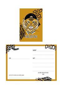 """Geburtstagseinladungen """"Hey Tiger!"""" (6 St.)"""